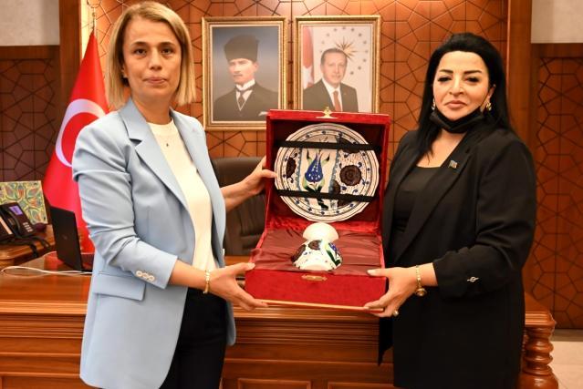 Azeri vekilden Vali Becel'e ziyaret