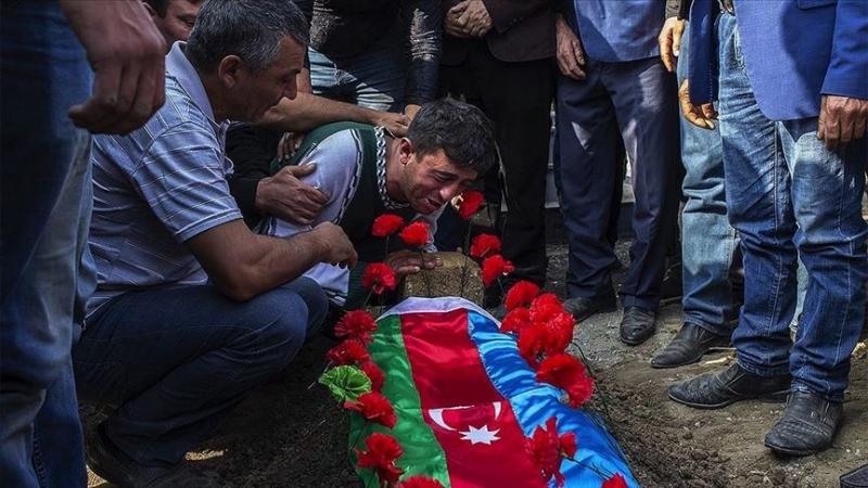Ermenistan saldırısında hayatını kaybeden 4 sivil son yolcuğuna uğurlandı