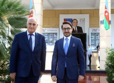 AA Genel Müdürü Karagöz, Azerbaycan Devlet Haber Ajansı Azertac'ı ziyaret etti