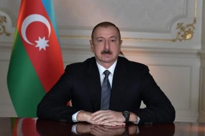 Cumhurbaşkanı Aliyev bir yıllık maaşını Koronavirusle Mücadele Fonu'na bağışladı
