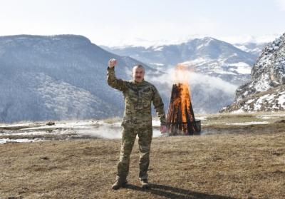 İlham Aliyev Şuşadan halka seslendi - VİDEO