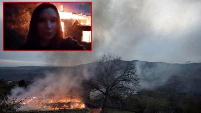 Laçın'dan çekilirken evleri yaktılar