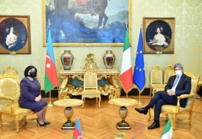 Milli Meclis Başkanı İtalyan Temsilciler Meclisi Başkanı ile görüştü