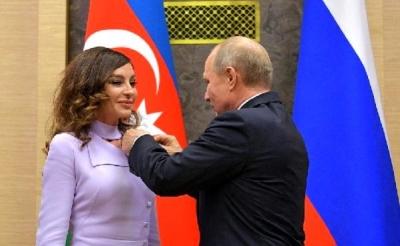 Putin'den Mihriban Aliyeva'ya Dostluk Madalyası